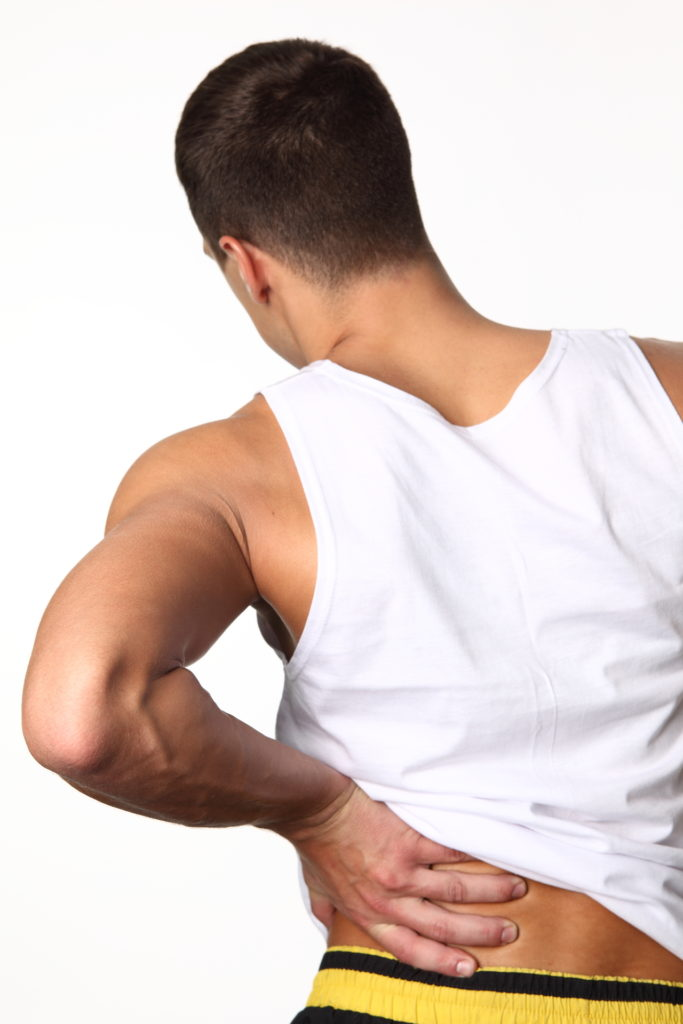 man with a herniated-disk-injury